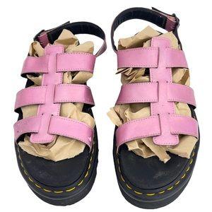 Dr. Martens Yelena Fisherman Metallic Pink Sandals Size 11